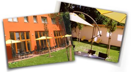 Hotel 26: Gartenterrasse / Café