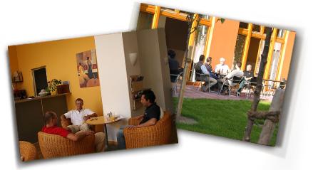 Hotel 26: Sommerterrasse und Café